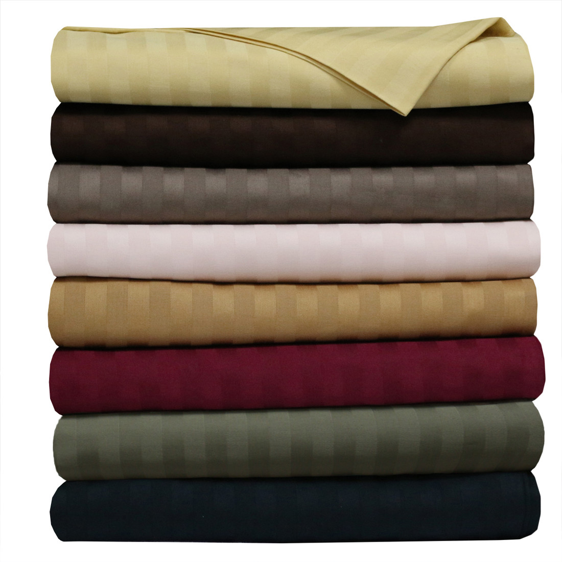 Royal 500 Thread Count 100 Cotton Sheet Sets Striped