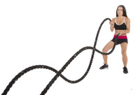 """Black Cyclone 2"""" Battle Rope By Muscle Ropes"""