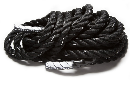 "Black Cyclone 1.75"" Battle Rope by Muscle Ropes"