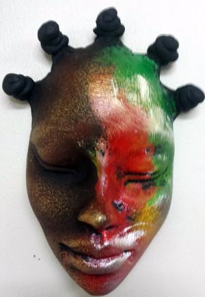 Med Nubian bump head Mask