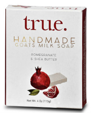 TRUE Handmade Goat's milk Based Pomegranate & Shea Butter Soap
