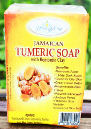 Jamaican turmeric is the best across the world, HoneyVera's Turmeric Soap provides its great benefits to the skin  A natural way to remove acne, fade dark spots, unclog pores and even the skin tone