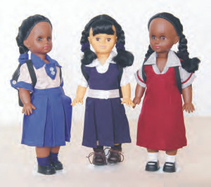 Jamaican School Girl Dolls