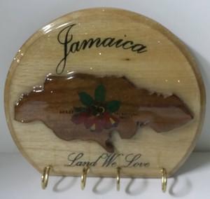 Round shape Jamaica key holder