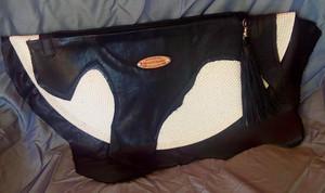 Genuine Leather Fan Clutch #4