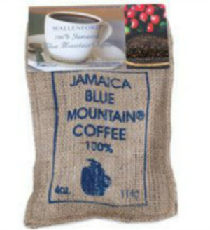 4oz Jute Bag Jamaica Blue Mountain coffee WB