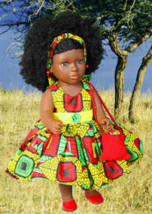 African Inspired doll