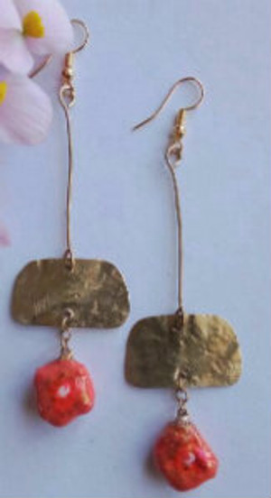 Eco friendly Earrings (orange)