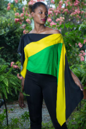 Jamaican Flag Short Kaftan