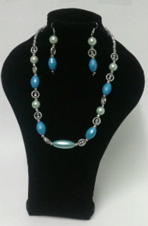 Light blue Necklace set
