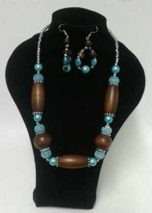 Mix blue Necklace set