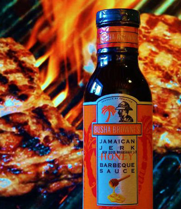 The combination of pure Jamaican Honey with Busha Browne's spicy jerk seasoning creates the perfect blend of sweet & spicy…with a kiss of cinnamon for intrigue. This sauce will have your taste buds BUZZING !