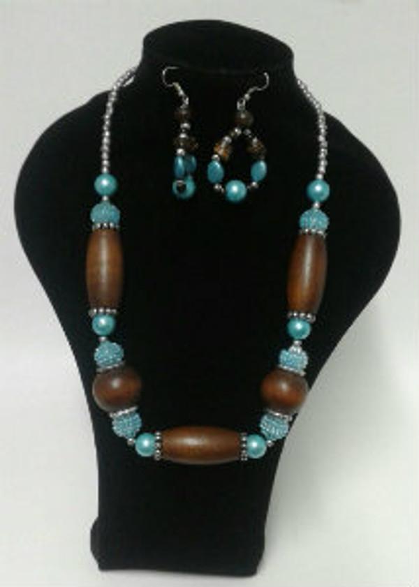 Mix blue Necklace set