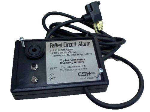 FCA2-05B Power failure detection with test and manual reset, 6 f