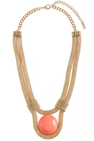 OVERSIZED COLORED DOME SNAKE CHAIN NECKLACE SET
