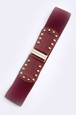 Studded Faux Leather Belt