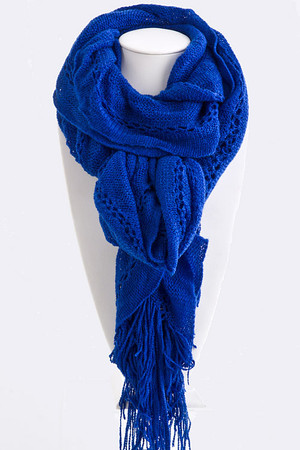 Knit Pattern Ruffle Scarf (more colors)