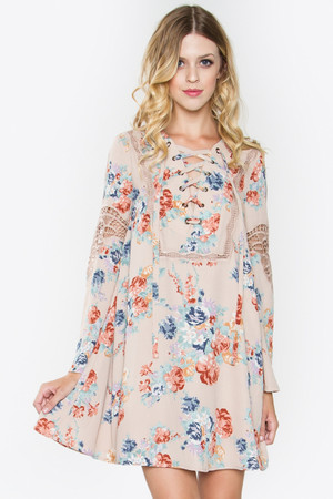 LOVE BLOOMS FLORAL DRESS