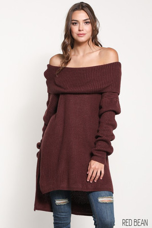 LONG SLEEVE NECK SWEATER TOP