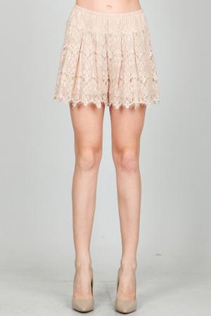Lace Dusty Salmon Shorts Ark & Co