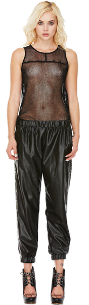 Hoop Dreams Leather Joggers Pants Style Stalker