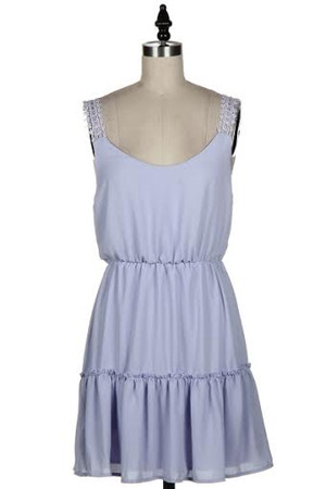 Sleeveless Lace Shoulder Lilac