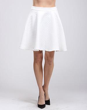 White Skater Skirt