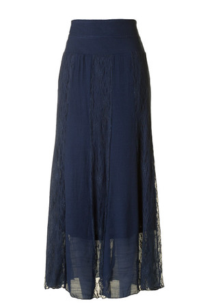 Shirring Gauze Maxi Skirt