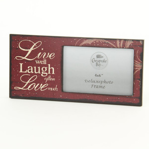 Live Well Laugh Often Love Much Sign Photo Frame