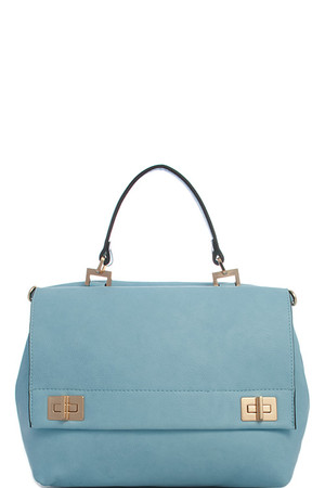 Double Sided Satchel Handbag Blue