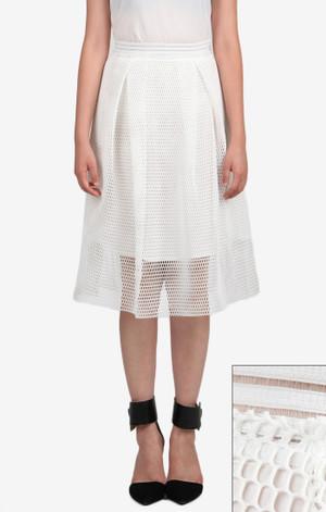 JOA Midi Mesh Full Skirt
