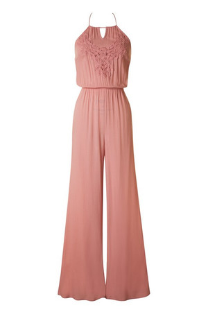 Dusty Pink Halter Top Jumpsuit