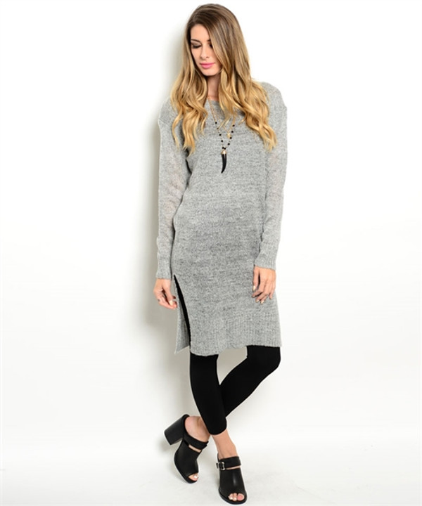 Fitted Sweater Gray