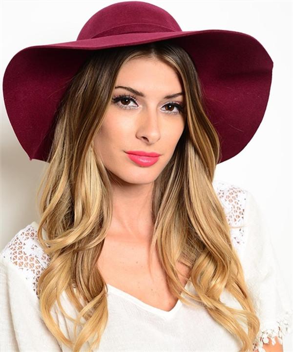 Burgundy Floppy Hats