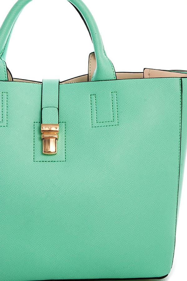 Tote Satchel Long Strap Handbag