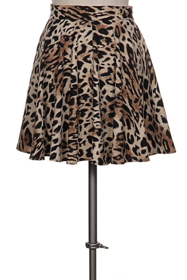 Leopard Circle Skirt Out Of My Kloset