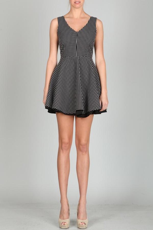 Black And White V Back Polka Dot Dress Ark & Co