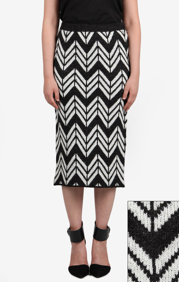 Chevron Knit Skirt