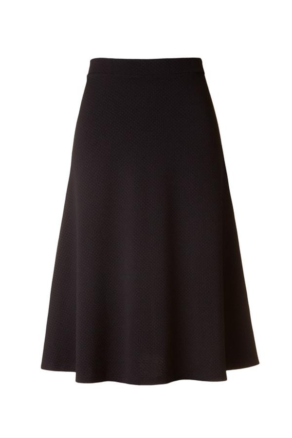 Knit Midi Black Skirt