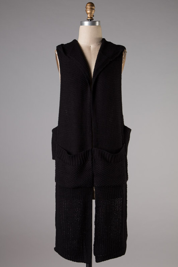 Sleeveless Vest HiLo Cardigan Sweater