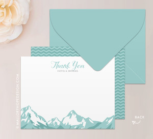 Mountain Range Thank You Card