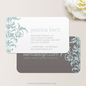 Damask Business Card