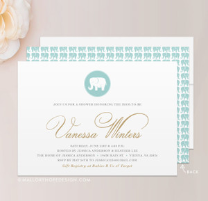 Baby Elephant Baby Shower Invitation
