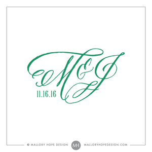 Swept Away PreMade Wedding Logo Design