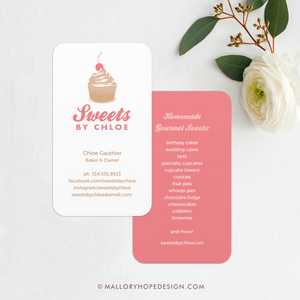 Baker Business Card, Cupcake Business Card