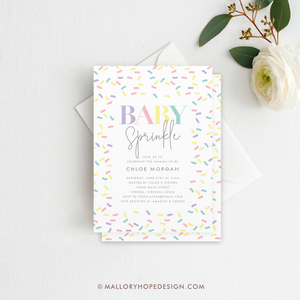 Sprinkle Baby Shower Invitation