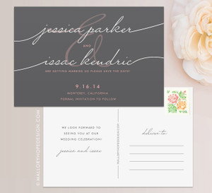 Handwritten wedding invitation mallory hope design handwriting simplicity save the date stopboris Image collections