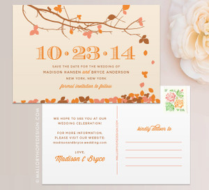 Fall Leaves Save the Date