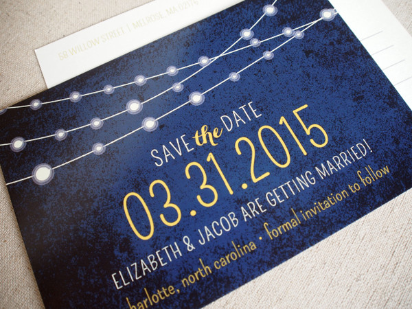 Twinkle Lights Save the Date