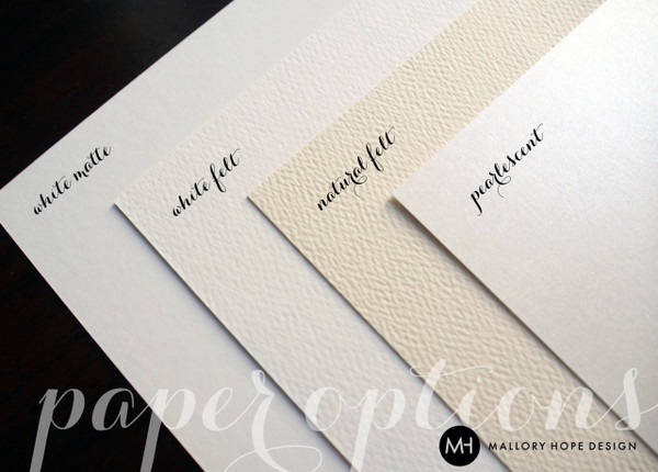 Mallory Hope Design Paper Options